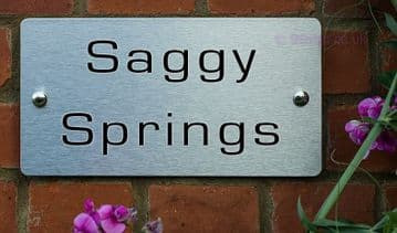 Saggy Springs  -Funny House Name Sign Plaque- Ideal housewarming gift