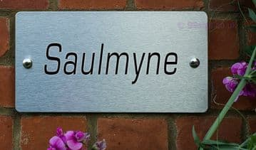 Saulmyne  -Funny House Name Sign Plaque- Ideal housewarming gift