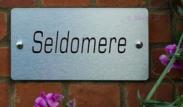 Seldomere  -Funny House Name Sign Plaque- Ideal housewarming gift