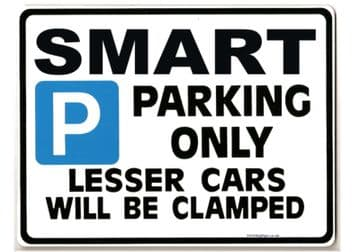 Smart Car Parking Sign - Gift for city roadster  mcc 80 61 models - Size Large 205 x 270mm
