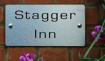 Stagger Inn  -Funny House Name Sign Plaque- Ideal housewarming gift