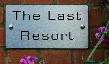 The Last Resort -Funny House Name Sign Plaque- Ideal housewarming gift