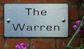 The Warren -Funny House Name Sign Plaque- Ideal housewarming gift