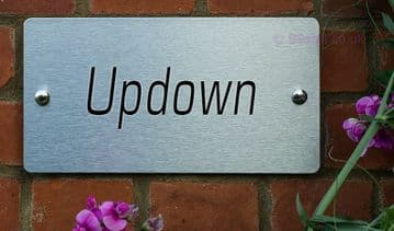 Updown  -Funny House Name Sign Plaque- Ideal housewarming gift
