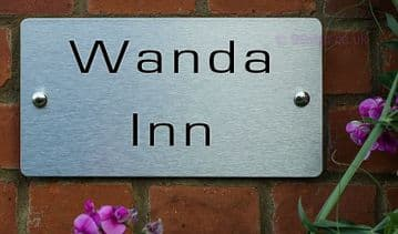 Wanda Inn  -Funny House Name Sign Plaque- Ideal housewarming gift
