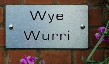 Wye Wurri  -Funny House Name Sign Plaque- Ideal housewarming gift