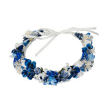 Flower girl  blue circlet head dress