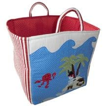 Quilted patchwork pirate toy bag
