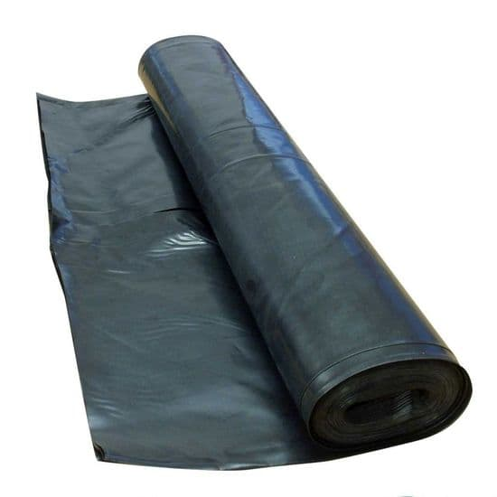 Black Polythene Damp Proof Membrane (DPM) - 4m wide