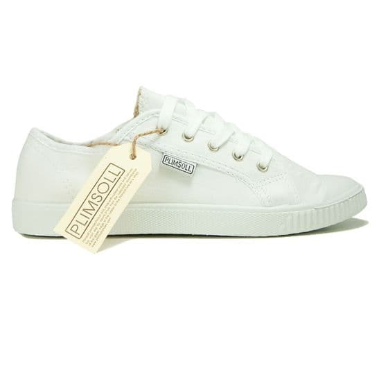 Women's white low Plimsoll