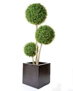 3 Ball Boxwood Tree Artificial 5 foot high