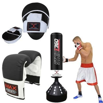 6ft  Punch Bag, Boxing Bag Mitts, T55 Focus Pad