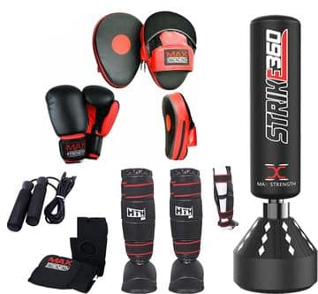 6Pcs 5.5ft Punch Bag and Boxing Gloves Set