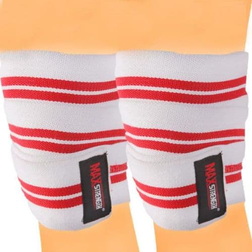 Bodybuilding Knee Wraps Poly Cotton Elasticated Material
