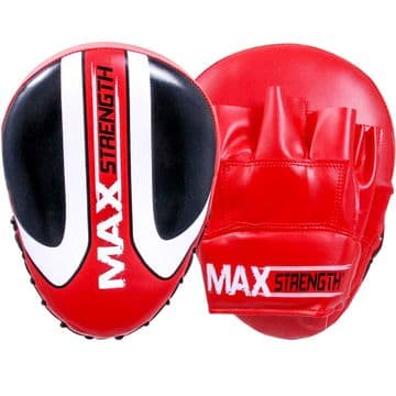 Boxing focus mitts Made of High Quality Rex Leather Available in Red Colour