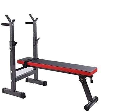 G260: Adjustable Exercise Bench with Racks Black/Red