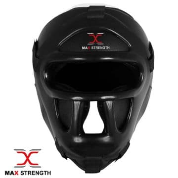 P115/A Boxing Head Guard Face Protector With Plastic Grill