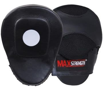 Rex Leather Boxing Focus Pads Mitts Made of a High Quality and Durable Rex-Leather, By Maxstrength