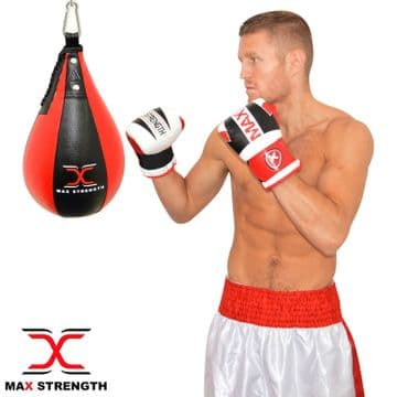 T71 Pear shape Speedball with hook (black and red)