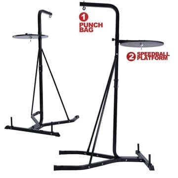 T90  2 Way Boxing Freestanding Frame with 4ft Punch Bag & Speedball