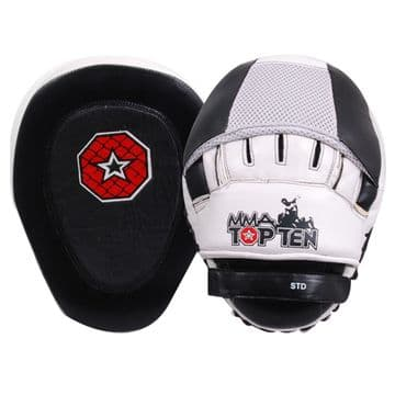 Topten Focus Pad Curved Boxing Punch Bag Mitts Hook and Jab MMA Fight Training By Topten