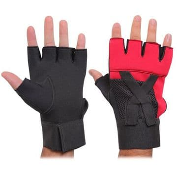 Weight Lifting Gel Padded Gloves Red/Black