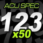 12cm (120mm) Race Numbers ACU SPEC - 50 pack