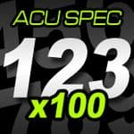 14cm (140mm) Race Numbers ACU SPEC - 100 pack