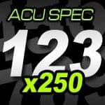 14cm (140mm) Race Numbers ACU SPEC - 250 pack