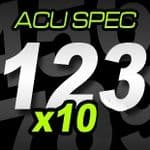 16cm (160mm) Race Numbers ACU SPEC - 10 pack