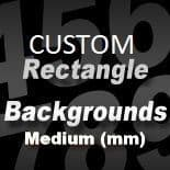 CUSTOM SIZE RECTANGLE STICKER BACKGROUND (medium) - between 287.5mm and 462.5mm