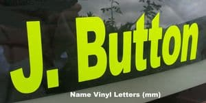 Name Letter vinyl (MM) Custom Size