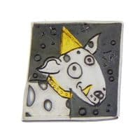 Dog brooch No.1 handmade silver and gold puppy designer made