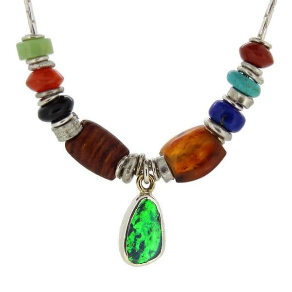 opal doublet necklace seven