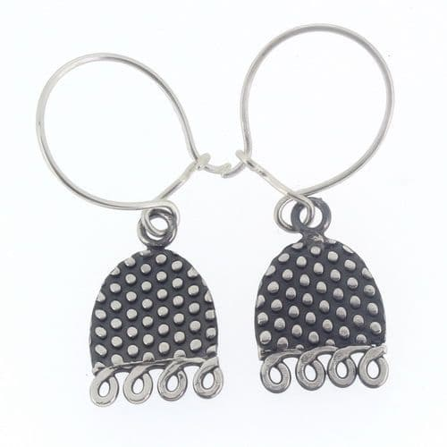 Spotty bell earrings