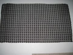 Pre cut dark brown Tygan with open weave for vintage style hi-fi fronts. Approx 50cm x 29cm