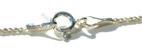 """925 Sterling Silver 1mm Giotto Chain Necklace 16"""" - 20"""""""