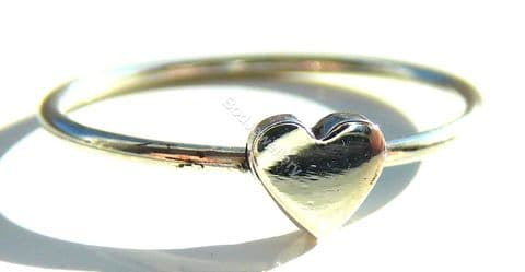 925 Sterling Silver Heart Ring, Size L - R