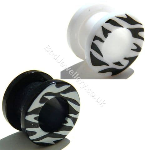 Acrylic Screw Ear Tunnel Plug 2 Colours 3mm to 20mm