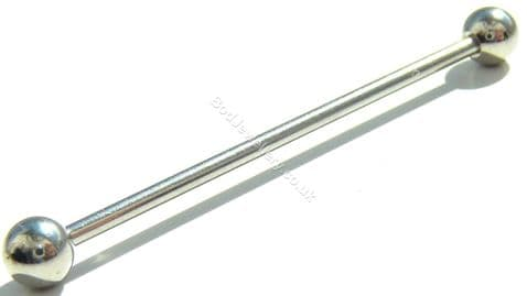 Plain Steel Industrial/ Scaffold Tongue Barbell 10mm - 45mm
