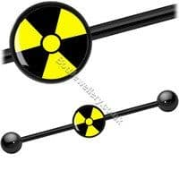 Radiation Picture Black Steel Industrial/ Scaffold Barbell 35mm