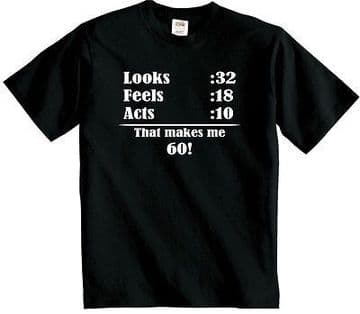 60th Birthday t shirt  Funny sixtieth t-shirt FREE UK DELIVERY Sixty years old