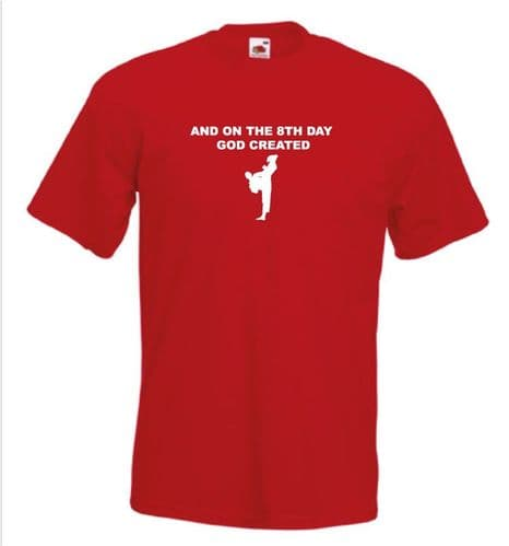 And on the 8th Day GOD created Karate T-Shirt Martial Arts t shirt Shoebob the UK T Shirt Specialist