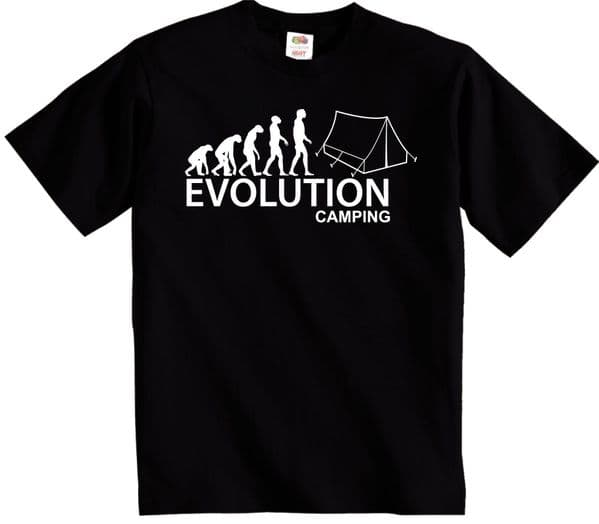 Evolution Camping t shirt Camper evolution
