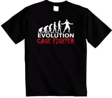 Evolution of a Cage Fighter t shirt Evolution of MMA UFC Cagefight  tshirt