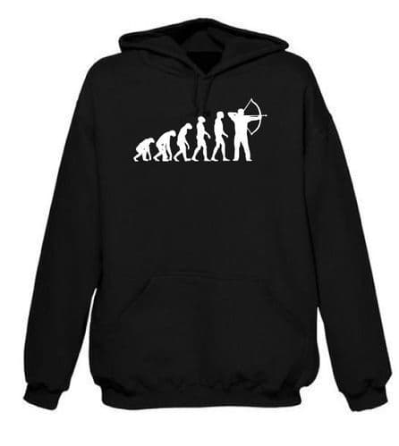 Evolution of Archery Hoodie FREE UK DELIVERY Bow & Arrow Hoody
