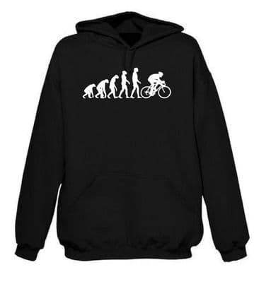 Evolution of Cycling Hoodie FREE UK DELIVERY Classic Push bike Hoody