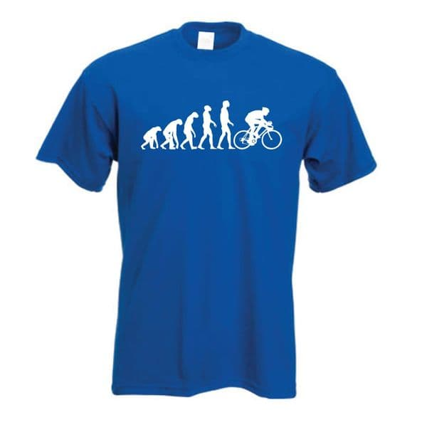 Evolution of Cycling t shirt evolution of man Classic cycle Push bike tee