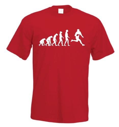 Evolution of man Rugby Player t shirt
