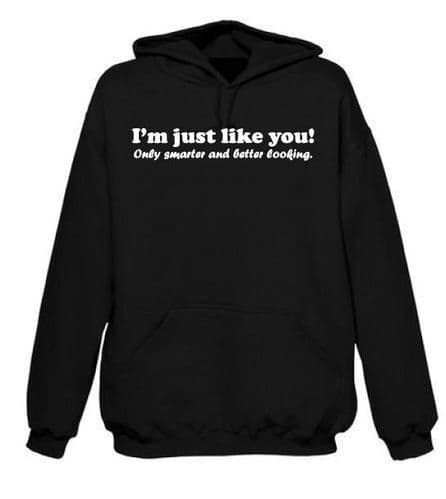I'm just like you only smarter and better looking Hoodie FREE UK DELIVERY